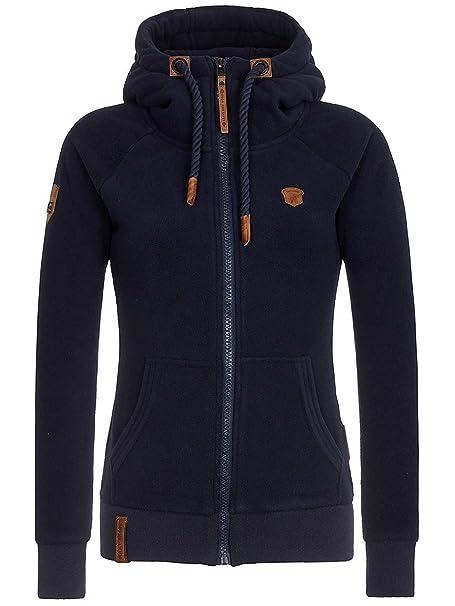 79632aaaa15e Naketano Women's Fleece Jacket Gigi Meroni V Dark Blue, S: Amazon.ca ...