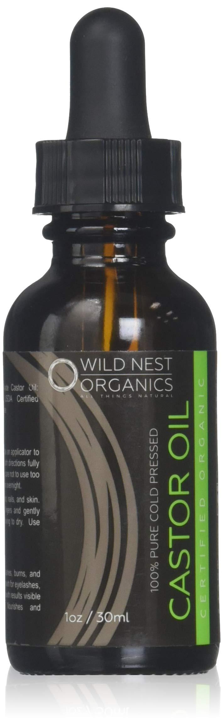 Organic Castor Oil USDA Certified Hair Regrowth Tonic Energizing Scalp Serum + eBook - Boost New