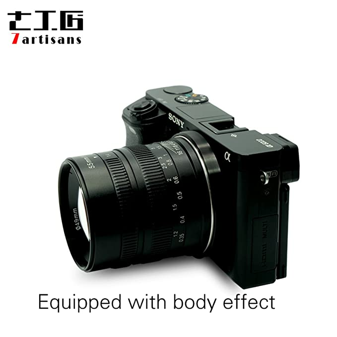 7artans F1.4 - Lente para cámara de Fotos de 55 mm (Gran Apertura ...