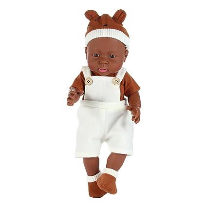 AOLVO African American Reborn Baby Dolls, Realista bebé muñeca Ropa ...