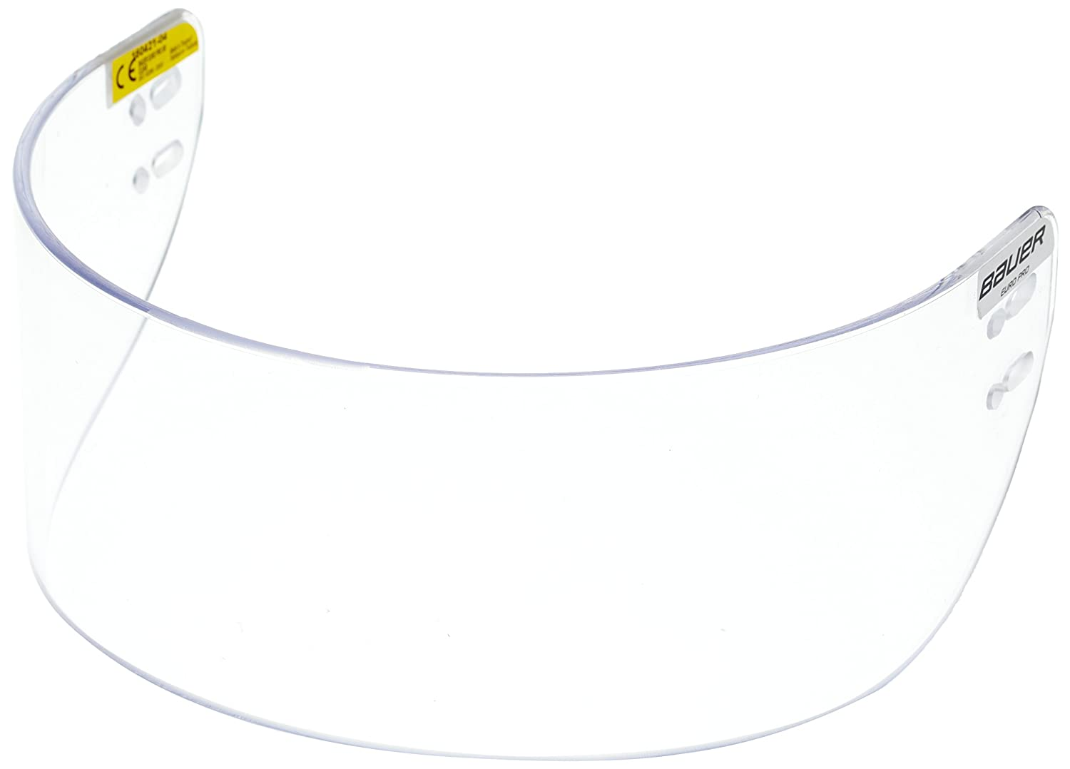 Bauer Euro Pro 1039933 Visor for Ice Hockey Helmet Straight, Clear, One Size by Bauer