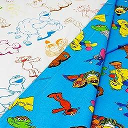 7pc Sesame Street Full Bedding Set Elmo Cookie Monster Comic Stip Comforter Sheets and Shams