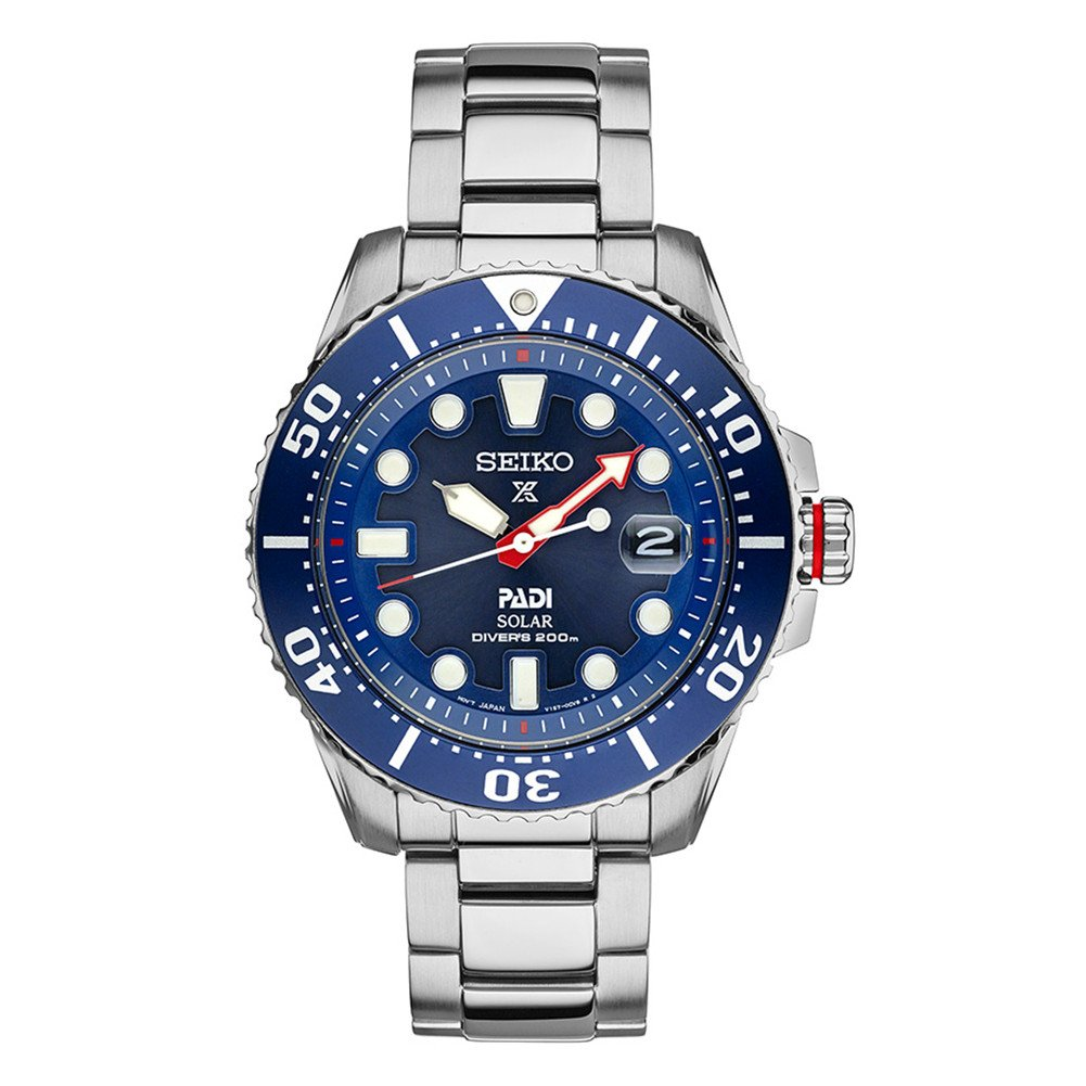 Seiko Men's PADI Solar Dive Watch 200M Special Edition SNE435 by Unknown