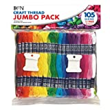 Janlynn Janlynn Craft Thread Jumbo Pack, Multicolor, 105-Pack