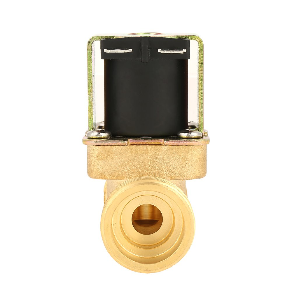 DC 12V G3//4 Normally Closed Water Control No Power Consumption Electric Brass Guide Solenoid Magnetic Valve for Water Flow Control Solenoid Valve