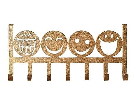 Amazon.com: yournelo Arte Hierro creativo Emoji Flor Puerta ...