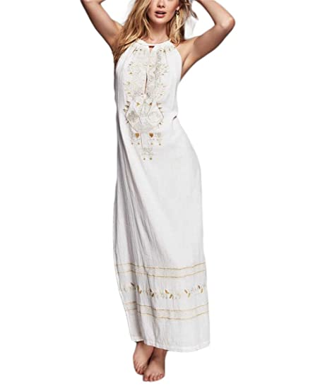 Paule Trevelyan NEW estilo Europa bordado longo backless vestido de festa vestidos de verão elegantes das