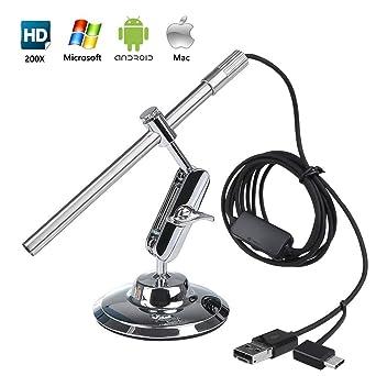 Flylinktech - Microscopio digital USB con endoscopio portátil HD ...