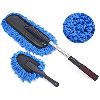 HELLO BAMBOO Car Duster,Car Microfiber Duster, Car Microfiber Duster with Extendable Handle - Exterior/Interior Use – Lint Free – Scratch Free: Automotive