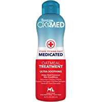 TropiClean OxyMed Medicated Anti Itch Treatment Rinse for Pets, 1 gal, Made in USA - Stops Itching Fast