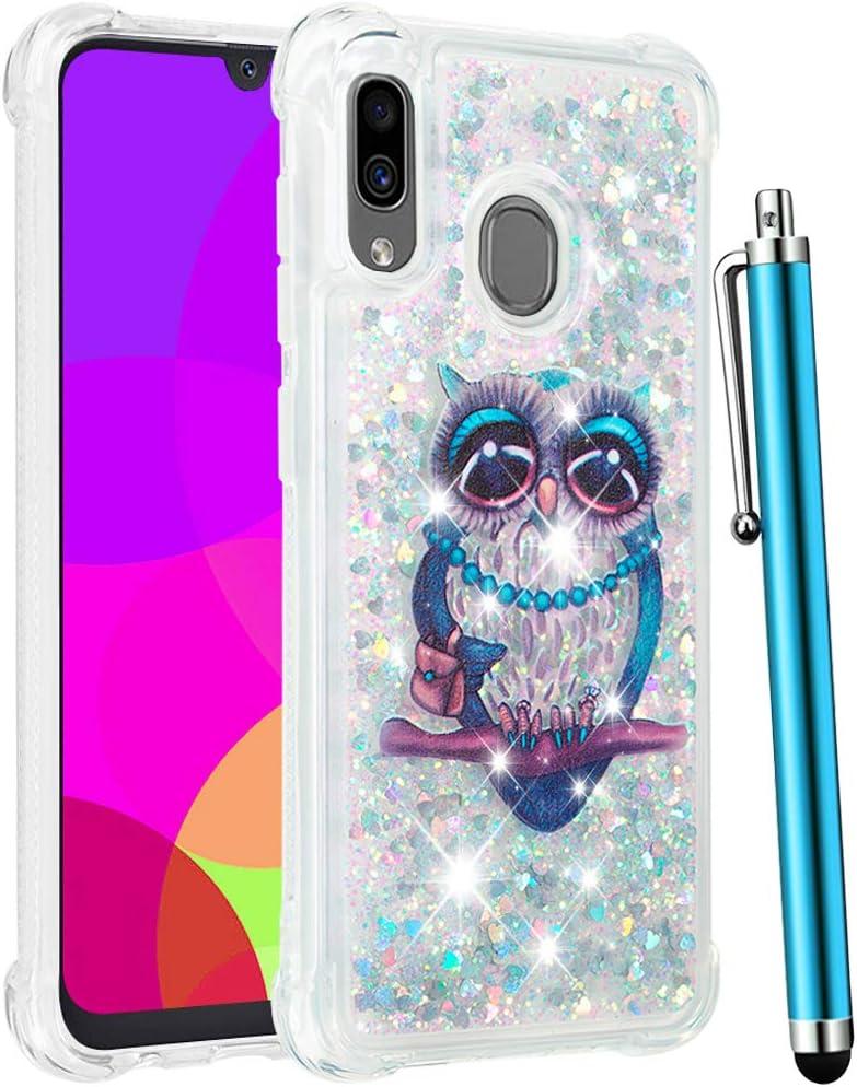 Amazon.com: CAIYUNL - Carcasa para Galaxy A30, funda para Galaxy A20,  diseño de purpurina líquida brillante brillante y flotante, para mujeres y  niñas, Cute Owl