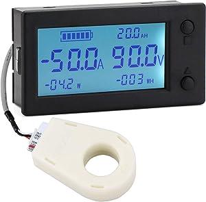 DROK DC 0-300V 200A STN LCD Display Digital Multimeter Voltage Ampere Power Energy Ammeter Voltmeter Battery Volt Amp Meter AH Monitor Panel with Hall Sensor …