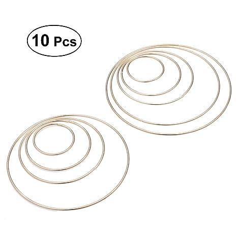 Healifty - 10 aros de metal plateados para manualidades ...