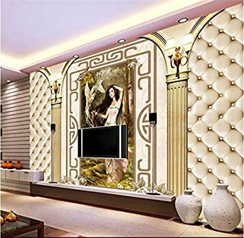 Sykdybz 3D Wallpaper Benutzerdefinierte Wandmalereien Foto Tapete Für  Wohnzimmer Schönheit Spalte Taube Malerei 3D Home Dekor