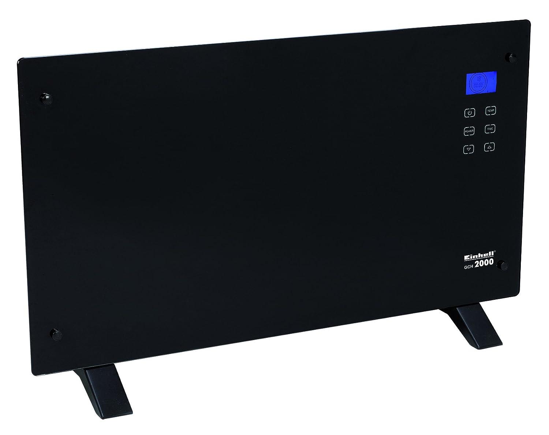 Einhell Konvektor GCH 2000 (2000 Watt max., X-Shape Heizelement, 2 Heizstufen, Thermostat, Timer, Touchscreen, LCD-Display, Glasfront, Fernbedienung)