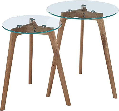 Convenience Concepts Clearview Nesting Round End Table
