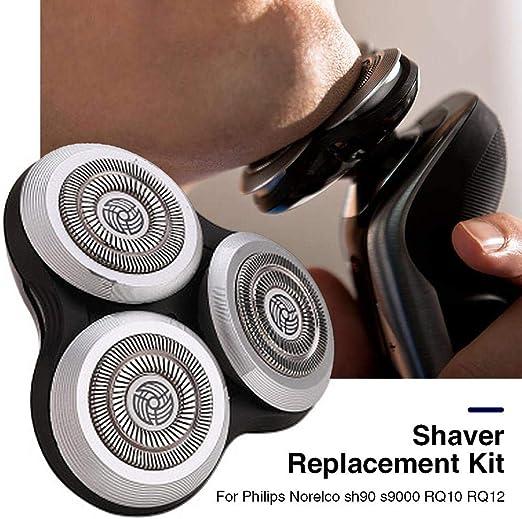 Sponsi Accesorios de afeitadora de cabeza de afeitadora para Philips Norelco sh90 s9000 RQ10 RQ12 RQ1280 RQ1180 RQ11 ...