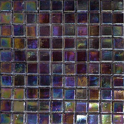 Kaleidoscope Glass Tile (Iridescent Mosaic Sheet - Kaleidoscope)