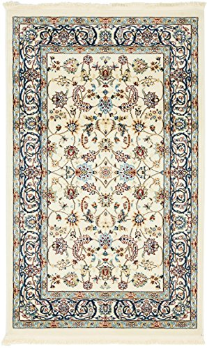 Unique Loom Narenj Collection Classic Traditional Repeating Pattern Ivory Area Rug (3