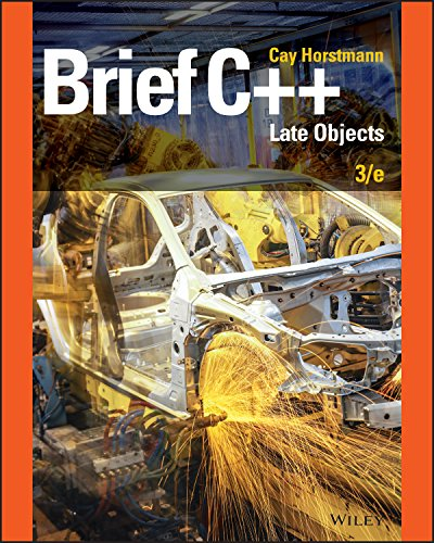 Brief C++: Late Objects, 3rd Edition PDF
