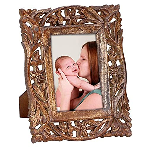100 handamde souvnear olde worlde art wood picture frame for 4x6 photos vintage look hand carved lattice work wooden photo frame for home - Wooden Frames