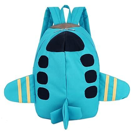 Mochila Tela de Oxford con dibujo de Animation pequeño avión mochila con una barra para niño
