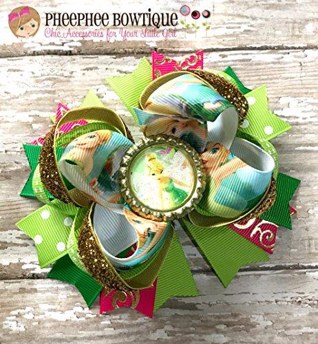Tinker Bell Hair Bow, Belle Hair Bow, Disney Inspired Hair Bow, Headband, Infant Headband, Baby Headband, Newborn headband, Disney Princess Bow, Handmade Hair Bows