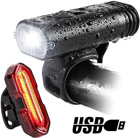 BQT Luz De La Bicicleta, USB Recargable LED Bicicleta Linterna ...