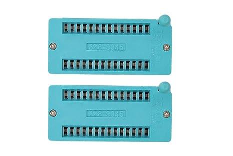 2Pcs ZIF ZIP IC Test DIP Board Socket 228-3345 Universal 3M 28-Pin 2.54mm
