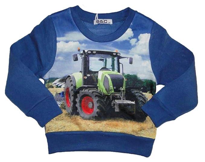 SQUARED /& CUBED Jungen Langarmshirt mit tollem Traktor Motiv