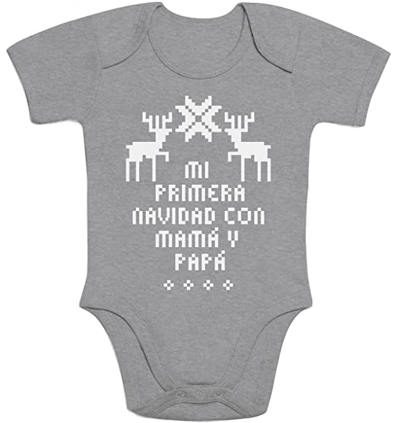 Shirtgeil Regalos bebé - Mi Primera Navidad con mamá y papá Body ...