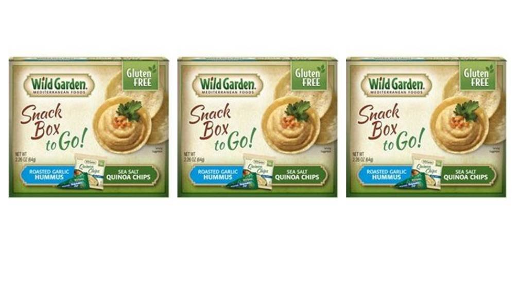 Amazon.com: Wild Garden Gluten Free Snack Box To Go! Roasted Garlic Hummus With Sea Salt Quinoa Chips - Pack of 3