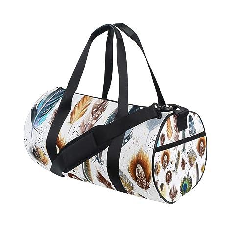 MALPLENA Lovely Feather Drum gym duffel bag women Travel Bag