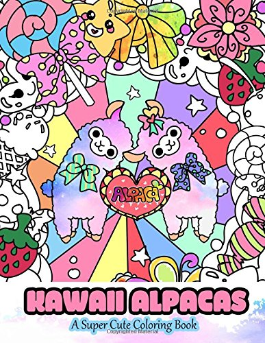 Kawaii Alpacas Coloring Adults Tweens product image