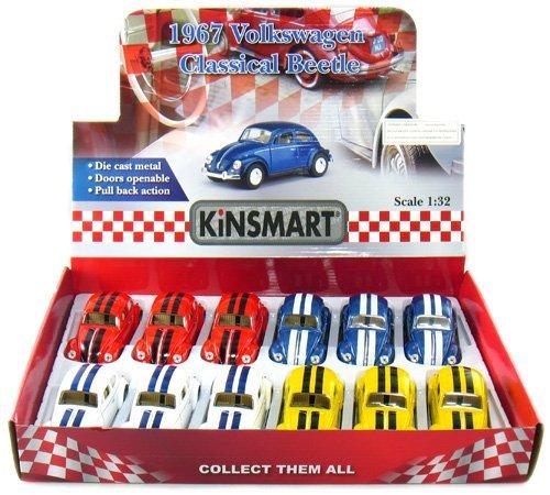 """Kinsmart 12 pcs in Box: 5"""" Classic 1967 Volkswagen Beetle..."""