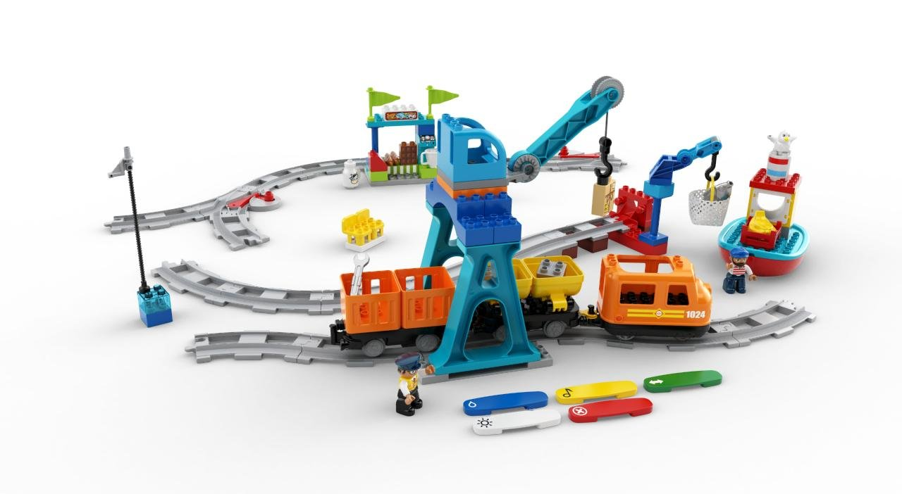 LEGO DUPLO Cargo Train 10875 Battery-Operated Building Blocks Set, Best Engineering and STEM Toy for Toddlers (105 Pieces) (Amazon Exclusive) by LEGO DUPLO Trains (Image #8)