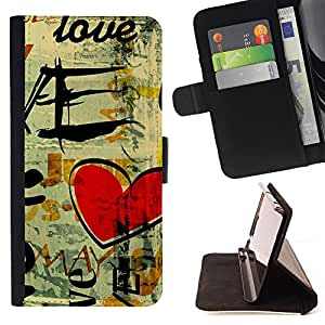 - Graffiti art style Pattern - - Premium PU Leather Wallet Case with Card Slots, Cash Compartment and Detachable Wrist Strap FOR LG Google Nexus 5 E980 D820 D821 King case