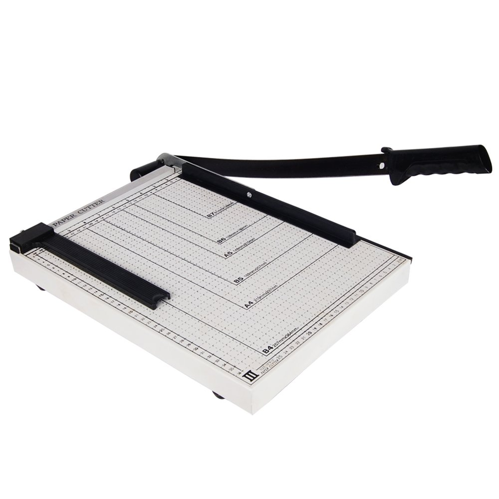 Yescom 15'' Cut Length Paper Cutter Guillotine Trimmer 12 Sheet Capacity Adjustable Guide Photo Paper Cutting Machine by Yescom