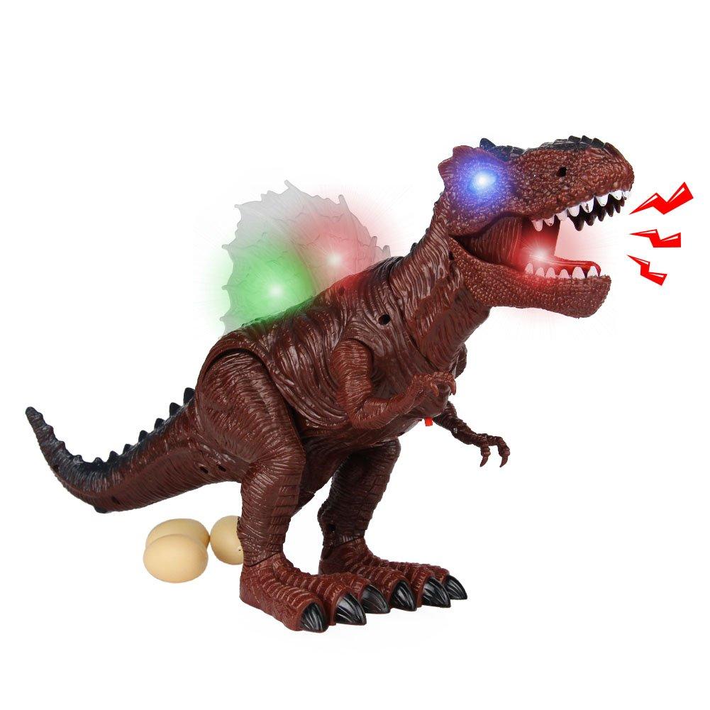 AX Dinosaurier Ei Spielzeug Tyrannosaurus Rex Walking Dinosaurier Spielzeug Brüllender Dinosaurier mit Licht und Sound für Kinder über 3Jahren Kinder AX Toys Factory