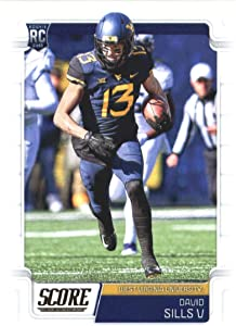 2019 Score #405 David Sills V RC Rookie West Virginia Mountaineers NFL Football Trading Card