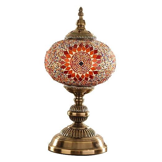 MX Lámpara de Mesa de Estilo otomano marroquí Turco Pantalla de ...