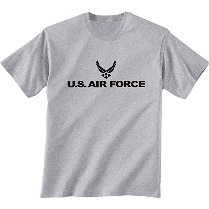 09bd4d14 Amazon.com: Air Force Short Sleeve T-Shirt in Gray: Clothing