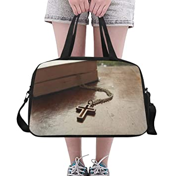 Christian Jesus Cross Faith Book Custom Large Gym Totes ...