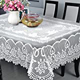 R.LANG Lace Tablecloth Dining Room White 60'' X 90''