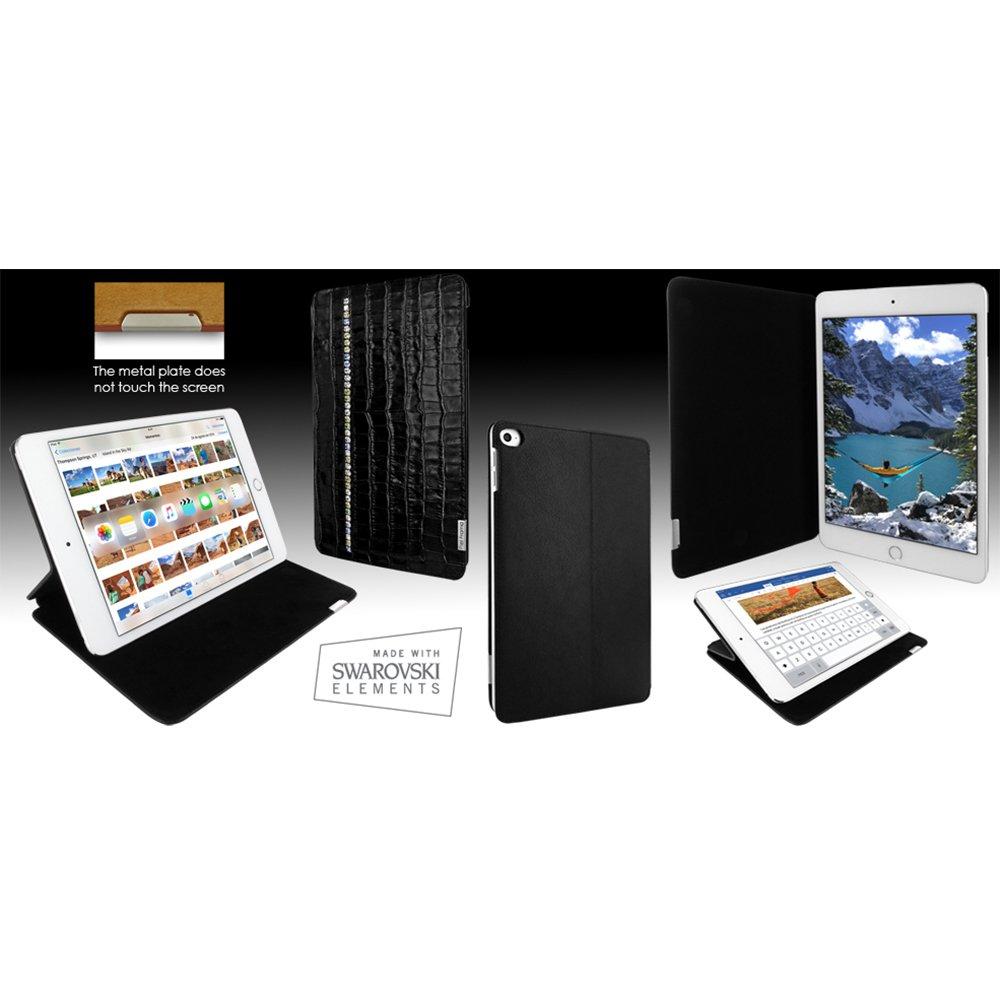 Piel Frama ''FramaSlim'' Leather Case for Apple iPad mini 4, Crocodile Swaro Black (723SW)