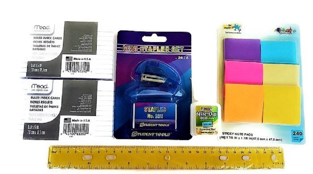 Over 55 Count School Supply Bundle by All Day Gifts, for Middle, High School and College - Binder, Mechanical Pencils, Sharpie, Pens, Hi-liters, Folders, Note Books Plus More (College Ruled) by All Day Gifts (Image #5)