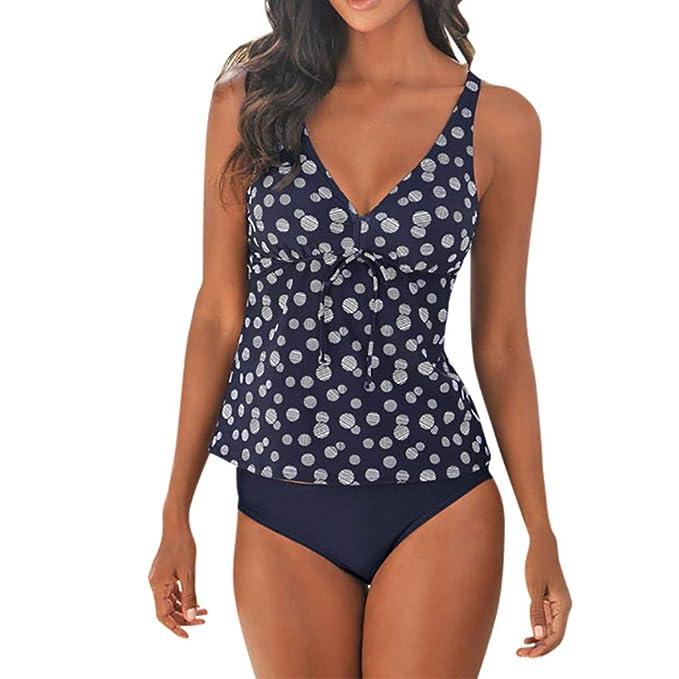 9d503feefd54 Luckycat Tankinis Bikini de Mujer Push up de Dos Piezas Talla Grande ...