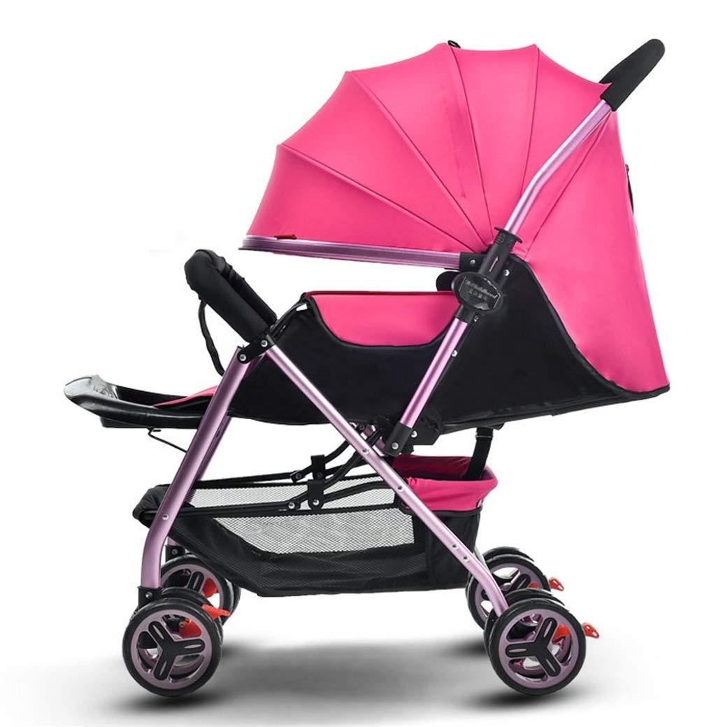 折りたたみベビーカー光と快適な サンシェードベビーカーベビーカー、母の幸せ ( Color : ピンク , Size : 51*96*102cm )   B07QQRDH74