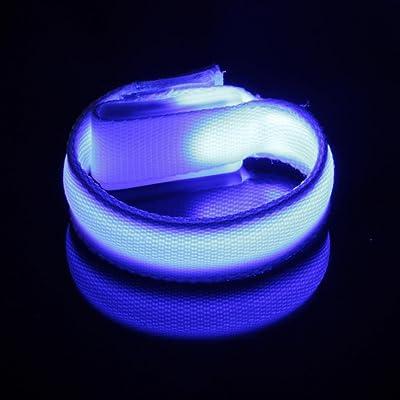 Squarex LED Lumineux Bracelet Bras de lumière Nuit avertissement de sécurité Flash LED Lumière pour la course à pied