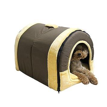 relkin mascota perro gato 2 en 1 Cama caliente sofá casa circular suave cómoda casa cama: Amazon.es: Productos para mascotas